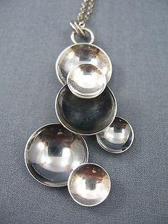 Elis Kauppi for Kupittaan Kulta, Vintage modernist sterling silver pendant. | eBay.com #Finland
