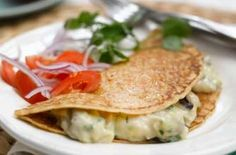 Weight Watchers leek, mushroom and cheese pancakes
