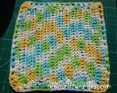 Magical Healing Crochet Dishcloth (www.favecrafts.com (by: Jennifer Gregory for Niftynnifer's Crochet & Crafts)