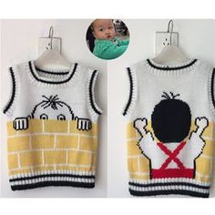 This Pin was discovered by cin Baby Knitting Patterns, Baby Sweater Knitting Pattern, Knitted Baby Cardigan, Knit Baby Sweaters, Knitting For Kids, Knitting Designs, Baby Patterns, Pull Bebe, Pulls