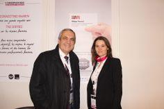 Forum de la Mixité 2013: Yvon Breton Directeur Général Délégué d'AG2R La Mondiale et la Co-organisatrice du Forum de la Mixité, Co-fondatrice de l'agence CONNECTING WoMEN, Carole Michelon