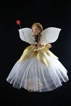 Christmas Fairy, Christmas Tree Toppers, Handmade Christmas, Christmas Ornaments, Fairy Tree, Beautiful Fairies, My Little Girl, Faeries, Daisy