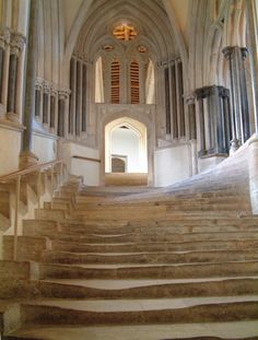 "30 June (5) Wells Cathedral's exquisite stairs up to the chapel house, where Robin entered Marion's chamber to hide from Gisbourne's soldiers in the pilot episode. The door to ""Marion's chamber"" actually opens onto..."