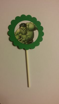 Hulk Cupcake Toppers by StefsGirls on Etsy https://www.etsy.com/listing/235597238/hulk-cupcake-toppers