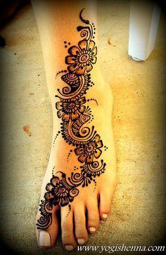 Henna foot at a Graduation Party