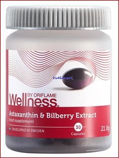 Astaxanthint és feketeáfonya-kivonatot tartalmazó étrendkiegészítő - Egyensúlyban Mantra, Sweden, Wellness