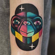 The extra terrestrial. Pop Art Tattoos, Tatoos, Rick E, David, Extra Terrestrial, Arte Pop, Tattoo Sketches, I Tattoo, Montreal