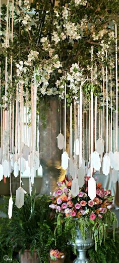 Wedding ● Escort Card Tree We will already have trees by the reception and it could be pretty, but is this practical -how in the world do people find their names?
