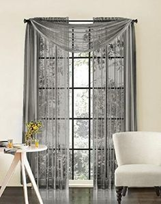 HLC.ME Pair of Silver Sheer Panel Window Treatment Curtains On Sale - Solid Thermal Insulated by crazyhope759