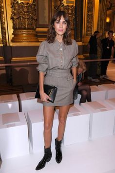 Alexa Chung attends the Stella McCartney show as part of the Paris Fashion Week Womenswear Spring/Summer 2018 | October 2, 2017