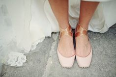 gasp! in my search for flat, comfortable wedding shoes, I come across a pair shot by the photographer i booked for our wedding.