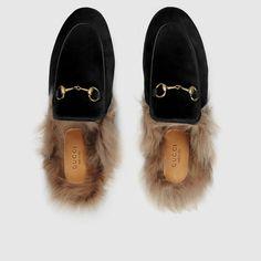 Princetown velvet slipper - Gucci Women's Moccasins & Loafers 448657K4D501076