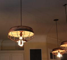 Design, Sustainability Chicken Feeder Upcycled Into Pendant Light by Southern Restoration