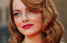 Oscar 2015 Style Guide: How to Get Emma Stone's Signature Bright Lips | Fox News Magazine #thebeautyfairy