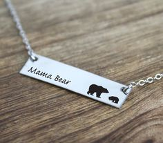 Hey, I found this really awesome Etsy listing at https://www.etsy.com/listing/278664900/mama-bear-necklace-bar-necklace-bar