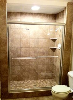 colored glass tile shower. This is very similar to my original ...