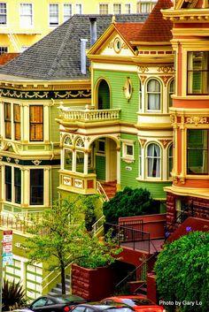painted ladies / San Francisco / CA Victorian Architecture, Amazing Architecture, Architecture Details, Boston Architecture, San Francisco City, San Francisco California, California Usa, Southern California, Beautiful Homes