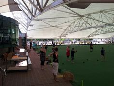 Barefoot Bowls at Raymond Terrace Bowling Club. Lawn bowls can be enjoyed by everyone. http://www.rtbc.com.au/page/bowls/social-bowls