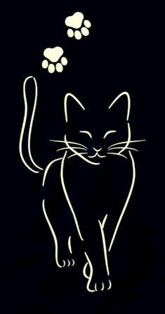 cat drawing simple step by step ; cat drawing simple for kids ; Cat Tattoo Designs, Cat Quilt, Cat Silhouette, Cat Crafts, Animal Drawings, Drawings Of Cats, Easy Drawings, Cat Art, Rock Art