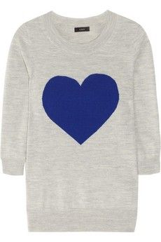 Heart Sweater. would look better on.