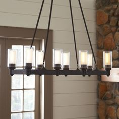 Found it at Birch Lane - Gramercy Rectangular Chandelier Dining Table Lighting, Farmhouse Light Fixtures, Farmhouse Chandelier, Dining Room Light Fixtures, Farmhouse Lighting, Kitchen Chandelier, Dining Tables, Lighting Sale, Chandelier Lighting