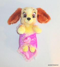 Disney Babies LADY & the Tramp Plush Dog Matching Baby Security Blanket P12 #Disney #toys