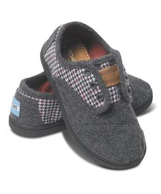 Love this Gray Houndstooth Wool Cordones - Tiny on #zulily! #zulilyfinds