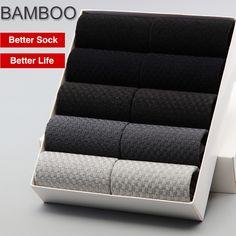 2017 Men Bamboo Socks BENDU Brand Guarantee Anti-Bacterial Comfortable Deodorant Breathable Business Man Sock (10 Pairs / Lot)