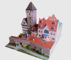 This building paper model is the Leaning Tower of Ulm, created by Ausschneide Bogen, and the scale is in 1:160 (N Scale). It is perfect for Dioramas, RPG and Wargames.