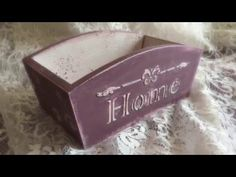 Decoupage Tutorial - How To Decorate a Wooden breadbaster - Διακόσμηση Ξύλινης Ψωμιέρας - YouTube