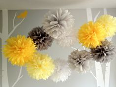 Upgraded Mod  10 Tissue Paper Pom Poms First by prosttothehost, $35.00