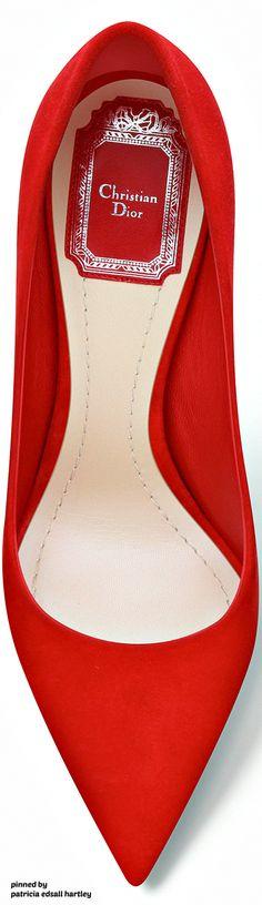 Rosamaria G Frangini   High Shoes   Red Desire   Dior Red Suede Calfskin Pump 2016