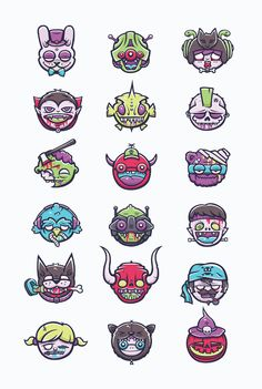 Monster Heads by Cohen Gum