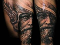 Riccardo Cassese is a tattoo artist from Barcelona, Spain Tiger Tattoo, Tattoo Motive, Tattoo You, Great Tattoos, Tattoos For Guys, Viking Tattoos For Men, Vikings, Rabe Tattoo, Viking Wallpaper