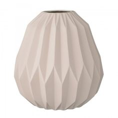 Bloomingville Large Diamond Vase - Matte Nude | Decorative Objects