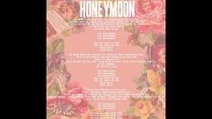 """Here it is, the first and title track off my record – Honeymoon. In some ways I feel it's where the record begins and ends... there are so many other tracks on the record, 13 others to be exact- Some with a muddy trap energy and some inspired by late-night Miles Davis drives… But I love this song because it encapsulates all of the things that come naturally to me. """