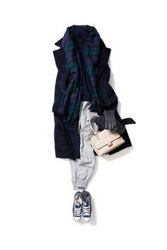 コーディネート詳細(寒い日のリラックススタイル)| Kyoko Kikuchi's Closet|菊池京子のクローゼット