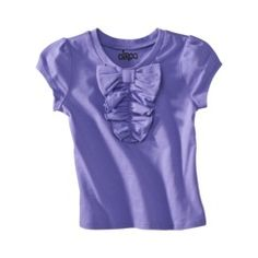 Violet ruffle bow top $8 Target