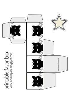 Cajita-cubo pequeño con etiqueta en forma de estrella.