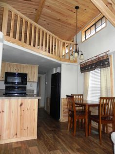 Spacious cabin interiors! This Lake Fork waterfront cabin also comes with free Wifi! www.popeslanding.com