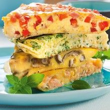 Eier mit Wasser gut verschlagen, dabei mit Salz und Pfeffer würzen. Die jeweiligen Zutaten der gewünschten Variante zugeben. Die Masse in...