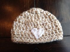 Baby hat with heart