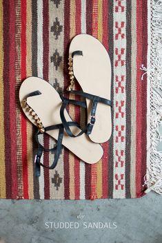 DIY: studded sandals