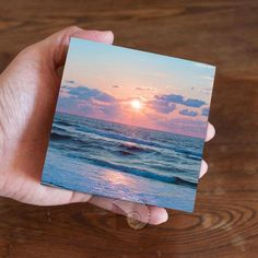 Ocean sunrise sunrise photography art panel photo panel beach gifts vacation memories sunrise decor beach decor morning by CoastalFocusArt Small Canvas Paintings, Small Canvas Art, Mini Canvas Art, Small Paintings, Small Art, Acrylic Painting Canvas, Painting Prints, Ocean Paintings, Mini Tela