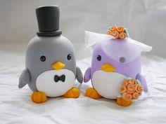 Hochzeitstortendeko, Pinguin + Eisbär Tortenfiguren Hochzeit komplett individualisierbar.  Bitte schreibe mir welche Farbe, Größe, Kleidung, Augenfarbe(Pupillen kann ich auch durch...
