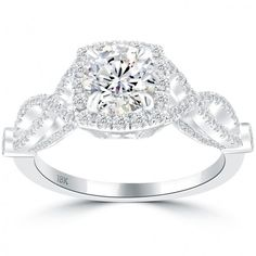 1.78 Carat F-SI1 Natural Round Diamond Engagement Ring 18k Gold Vintage Style - Thumbnail 1