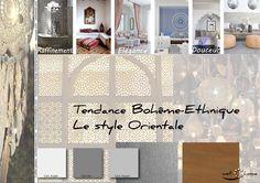 Moodboard - Déco, planche d'ambiance, tendance bohême-etchnique, style orientale, réalisation well-c-home
