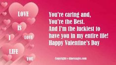 Here we have Best collections of Happy valentines day SMS Messages 2020 and wishes SMS for friends, boyfriend, him, wife, husband girlfriend and her. Happy Valentines Day Sms, Valentines Day Messages, Valentines Day Wishes, Sms Message, Text Messages, You And I, Love You, My Love, Velentine Day