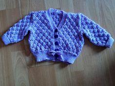 Violet's violet cardigan. Colour is more lavender than blue.