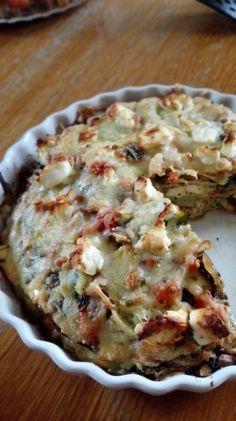 Koolhydraatarme Italiaanse tortillataart – Keto en zo